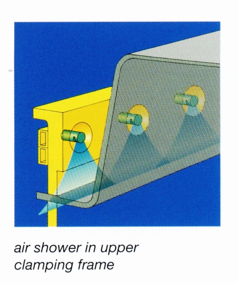 Prysznic powietrzny górnej ramy